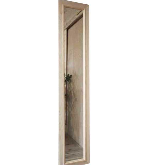 スリムミラー 鏡 無塗装白木 w25d2h129cm 姿見鏡 木製 ひのき オーダーメイド