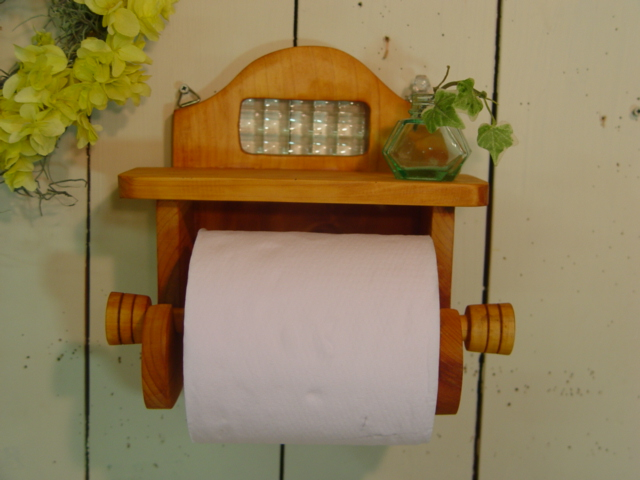 Wooden Toilet Paper Holder Shelf Of The Checker Gl Made In Natural France Is With It