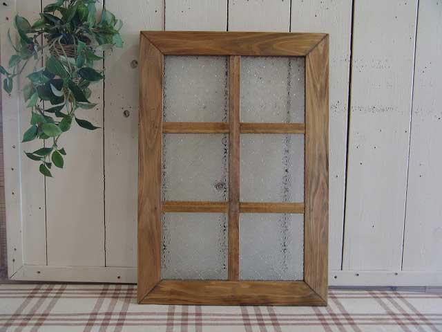 ガラスフレーム 木製 ひのき フローラガラス 両面仕様桟入り 35×50cm・厚み2.5cm 北欧(アンティークブラウン)受注製作