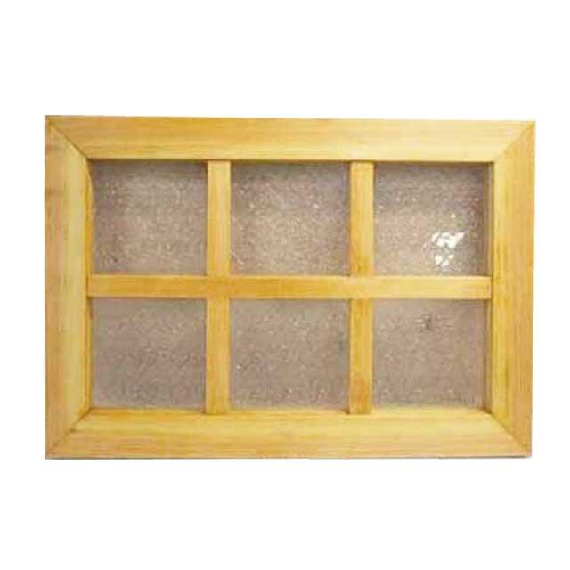 室内窓 フィックス窓 フローラガラス 木製 ひのき (35×50cm・厚み3.5cm)北欧 ナチュラル オーダーメイド 1327933