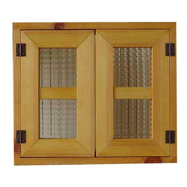 室内窓 採光窓 チェッカーガラス ナチュラル 木製 ひのき 40×35cm扉厚み3cm マグネット仕様 オーダーメイド 1327933