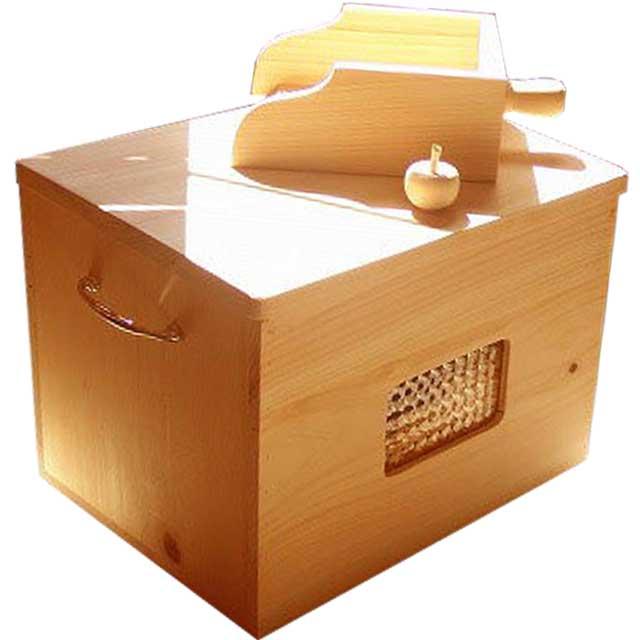 徳島県神山町産ひのきのカンナチップ3kg&専用木製ボックス&スコップセット ナチュラル 受注製作