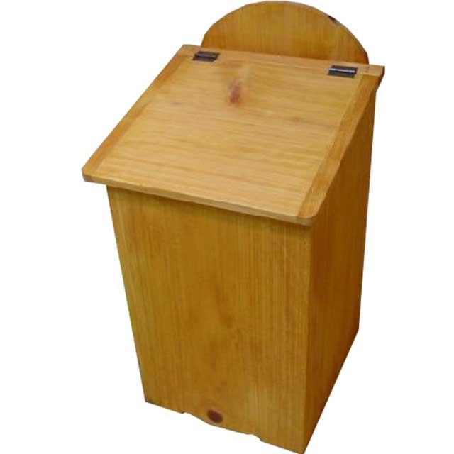 ダストボックス ふた付き ナチュラル w27d28h53cm 木製 ひのき オーダーメイド