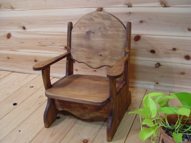 Baby chair ◇ chair of the antique brown ◇ hinoki - Angels Dust: Baby Chair ◇ Chair Of The Antique Brown ◇ Hinoki