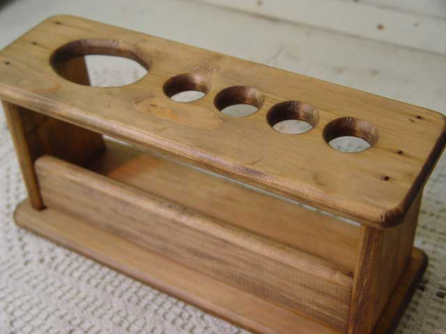 Antique Brown-wooden toothbrush stand-toothbrush holder