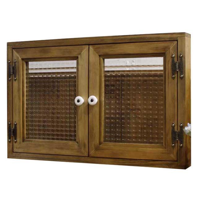 室内窓 採光窓 木製 ひのき アンティークブラウン カフェ窓 チェッカーガラス マグネット仕様 北欧 オーダーメイド 1327933