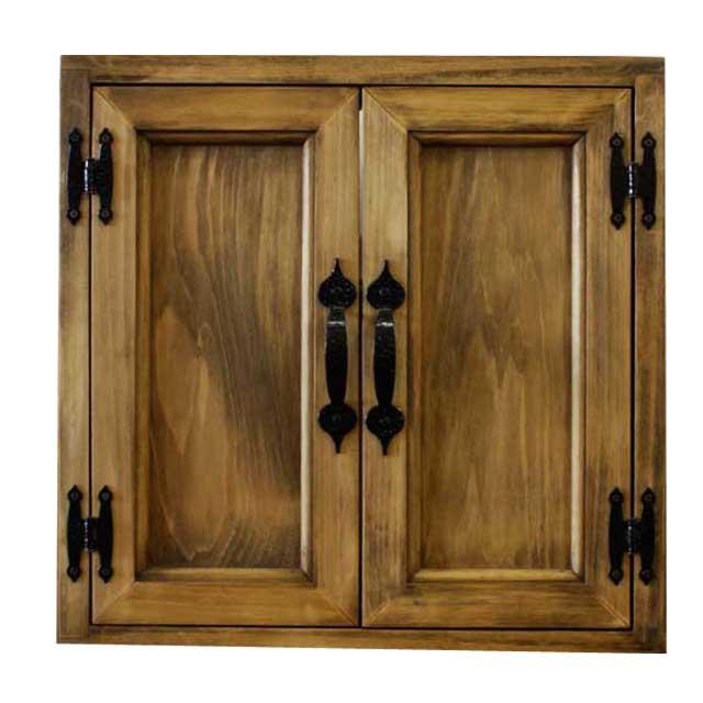 室内窓 採光窓 木製 ひのき 木製扉 両面取っ手 マグネット仕様 40×10×40cm アンティークブラウン オーダーメイド 1327933