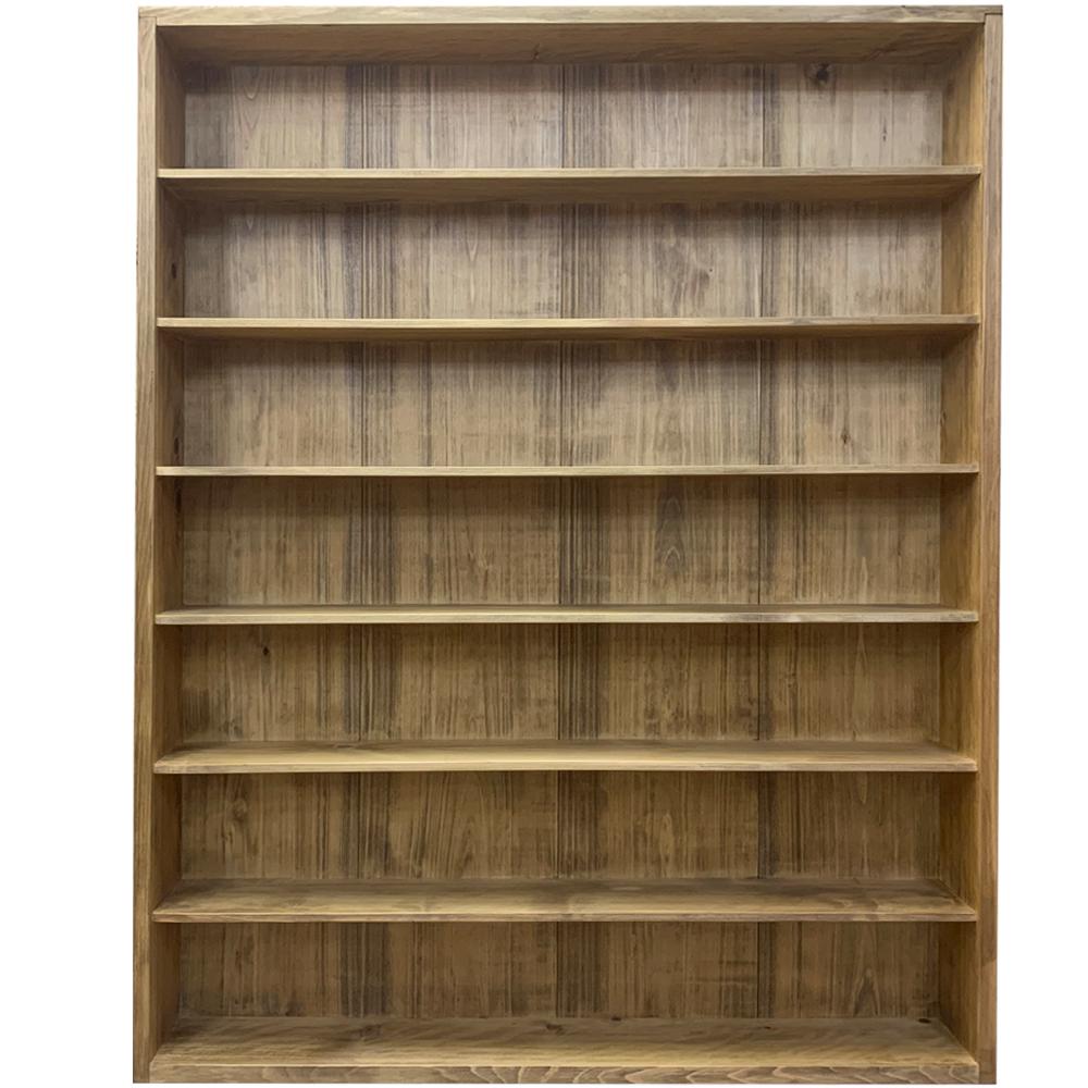 キャビネット アンティークブラウン 95×14×115cm 七段 壁掛け 木製 ひのき ハンドメイド オーダーメイド
