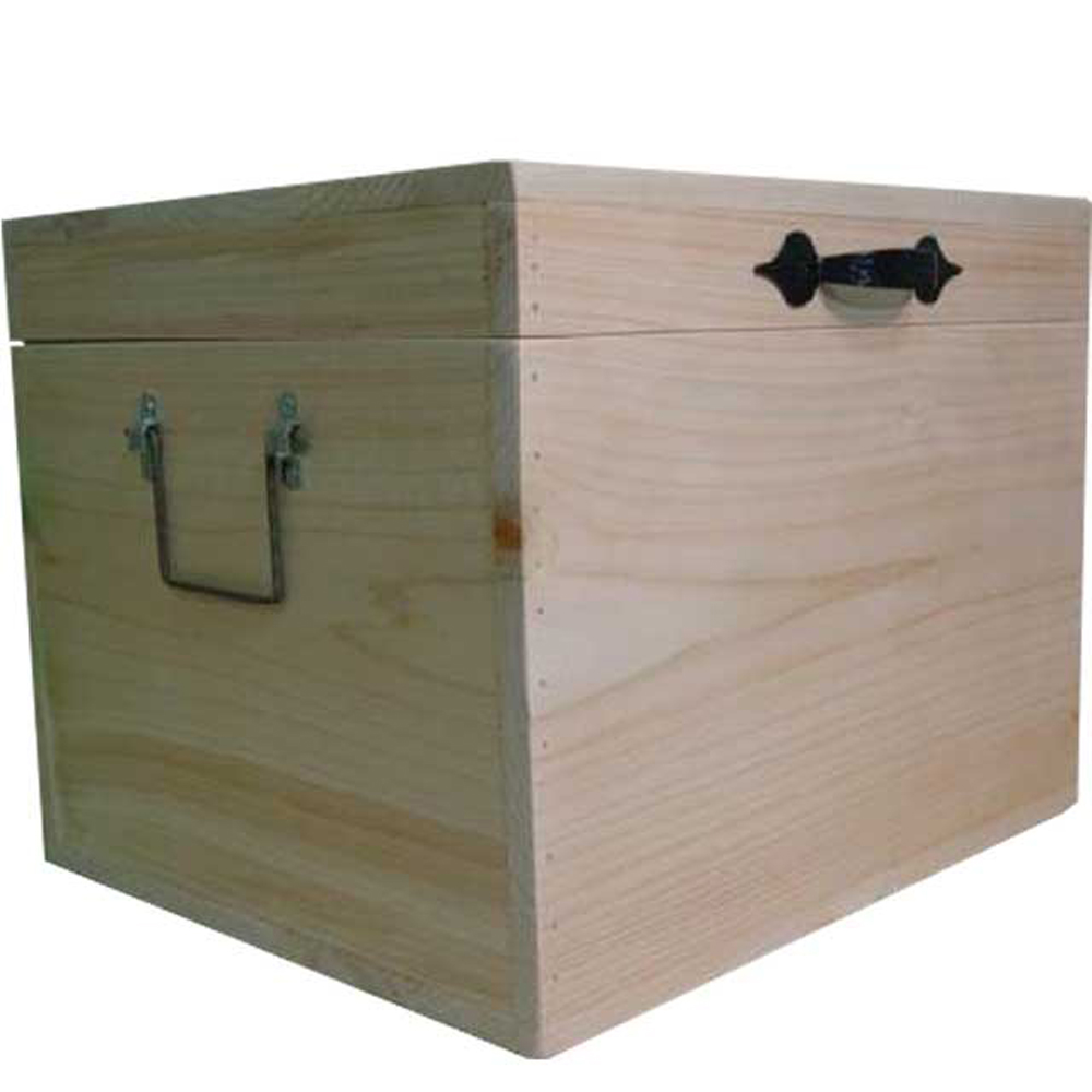 カントリーボックス ふた付き 収納箱 無塗装白木 35×30×27cm 木製 ひのき ハンドメイド オーダーメイド