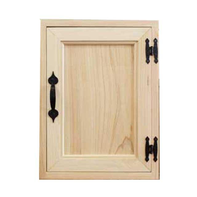 キーボックス 無塗装白木 30×7×40cm アイアン取っ手 アイアンフック 木製扉 ニッチ用埋込タイプ 木製 ひのき オーダーメイド