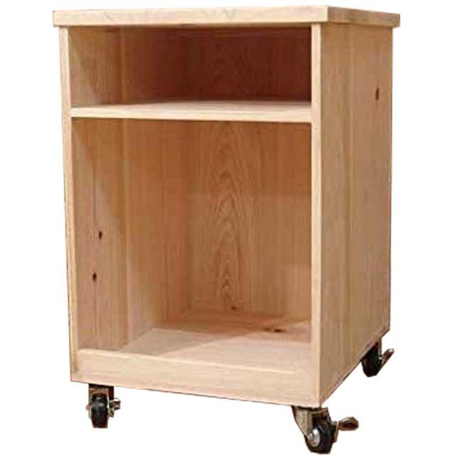 キッチンワゴン バーニング麦の穂 無塗装白木 w33d40h50cm キャスター付き 木製 ひのき オーダーメイド