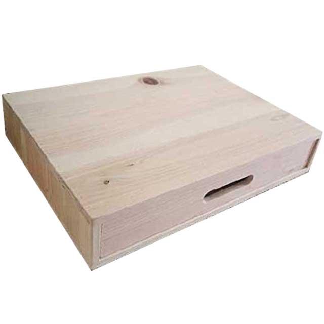 ドロワー 隙間収納引き出し 木製 ひのき 無塗装白木 DVD・ブルーレイレコーダー台にも 受注製作