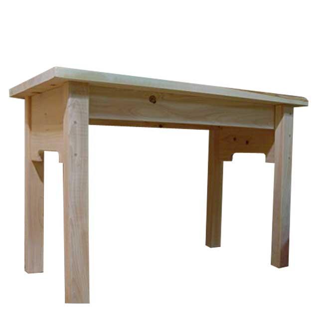テーブル 自然素材 無塗装白木 95×49×63cm 自然木 木製 ひのき オーダーメイド