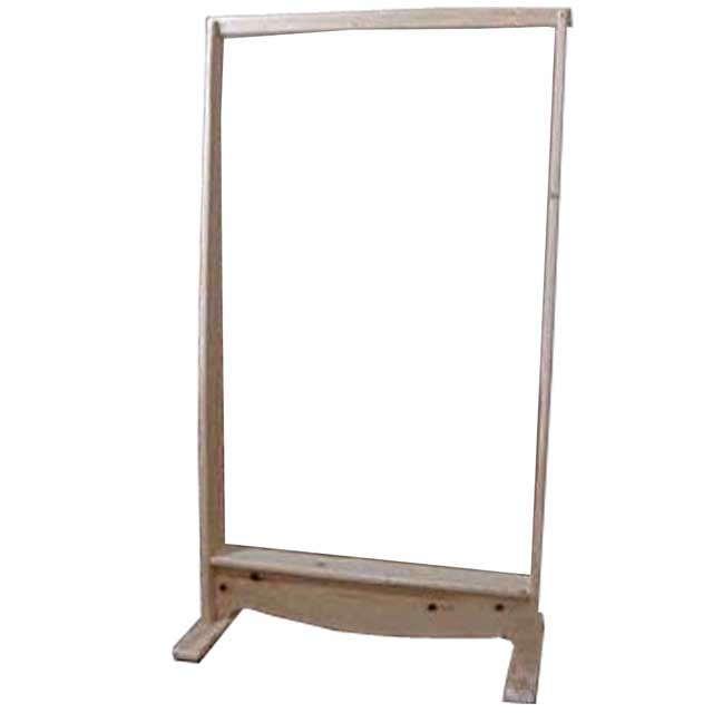 ハンガーラック 木製 ひのき 無塗装白木 ワイド 組み立て式 80×40×145cm 北欧 受注製作