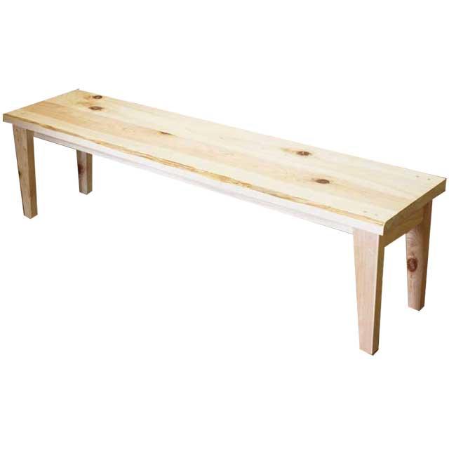 ウッドベンチ ライトオーク w150d35h40cm カントリーベンチ 木製 ひのき オーダーメイド