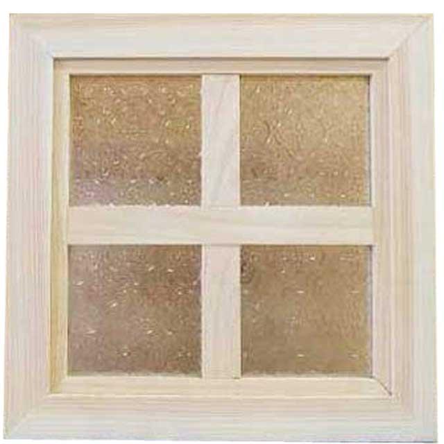 ガラスフレーム 木製 ひのき フローラガラス 両面仕様桟入り 25×25cm・厚み2.5cm 無塗装白木 オーダーメイド 1327933