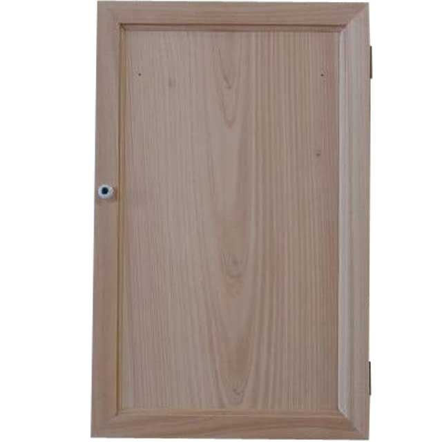 無塗装白木 木製扉の壁掛けアクセサリーケース(25×7×40cm)L字フック付きジュエリーケース 北欧 受注製作
