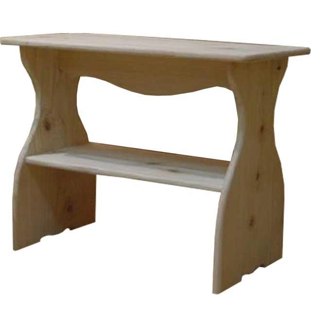 Unpainted Wood Wood Type Lower Storage Mini Shelf Shaped Ornament Stand