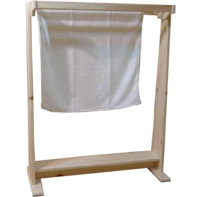 タオルハンガー バスタオル 無塗装白木 w78d34.5h99cm 4本バー 木製 ひのき 北欧 受注製作