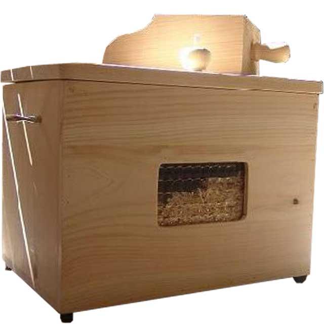 徳島県神山町産ひのき カンナチップ3kg&専用木製ボックス&スコップセット 無塗装白木 受注製作