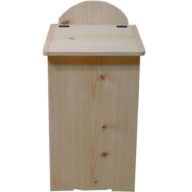 ダストボックス 蓋つき 無塗装白木 w27d28h53cm 木製 ひのき オーダーメイド