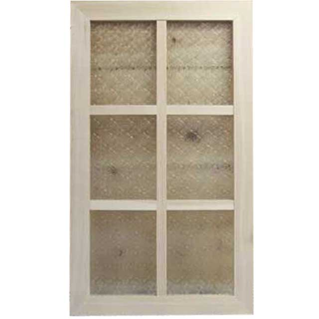 ガラスフレーム 木製 ひのき フローラガラス 両面仕様桟入り 40×70cm・厚み2.5cm 北欧(無塗装白木) オーダーメイド