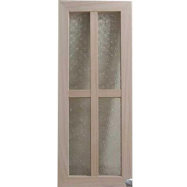 ガラスフレーム 木製 ひのき フローラガラス 両面仕様桟入り 20×50cm・厚み2.5cm 北欧(無塗装白木) オーダーメイド 1327933
