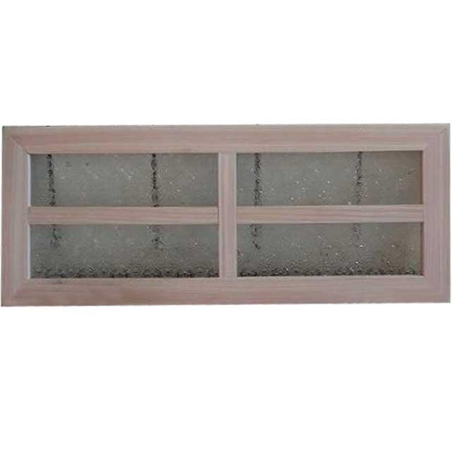 無塗装白木 フローラガラスのガラスフレーム 桟入りガラス窓(50×20cm) 北欧 オーダーメイド 1327933