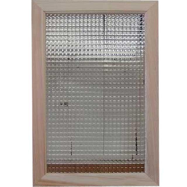 無塗装白木 チェッカーガラスのガラスフレーム ガラス窓(40×60cm) 北欧 オーダーメイド 1327933