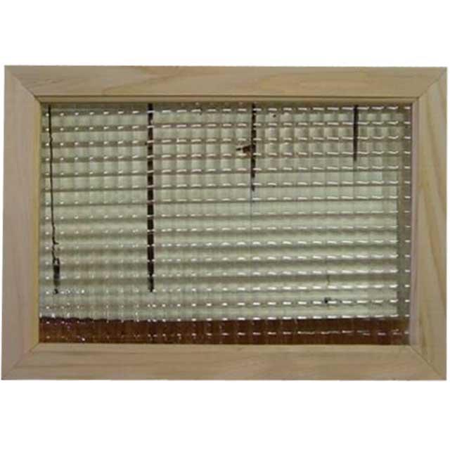 無塗装白木 チェッカーガラスのガラスフレーム(50×35cm) 北欧 受注製作