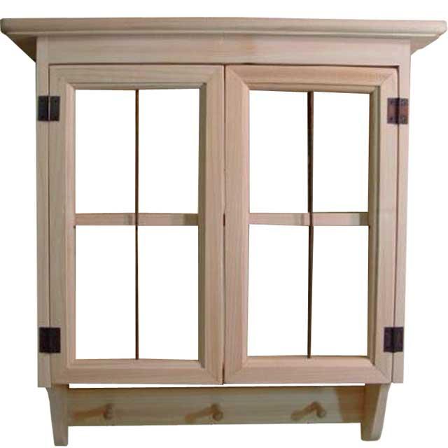 キャビネットシェルフ アイアン w45d14h47cm 無塗装白木 ガラスなし ペグ付き 木製 ひのき オーダーメイド