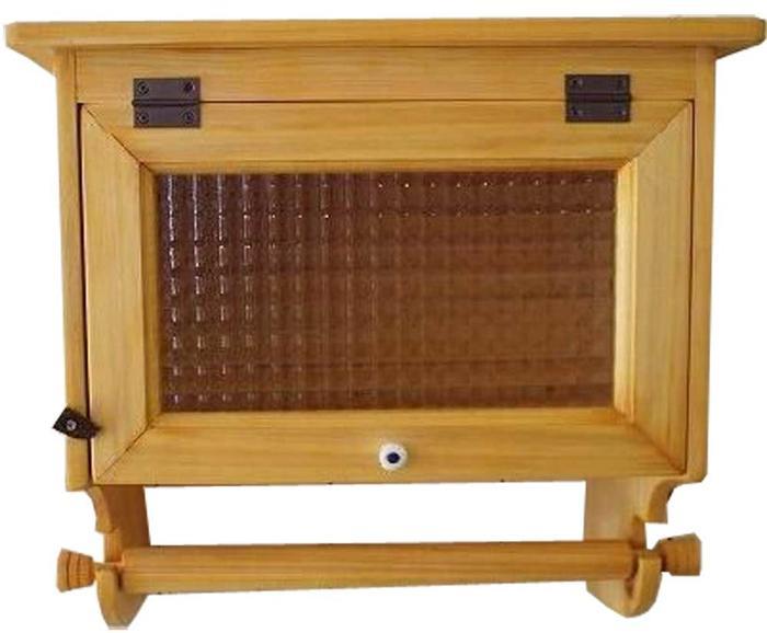 キッチンペーパーホルダー チェッカーガラス扉 w36d22h35cm ナチュラル 海外サイズ(280cm 壁かけ スパイスラック) 木製 ひのき 受注製作