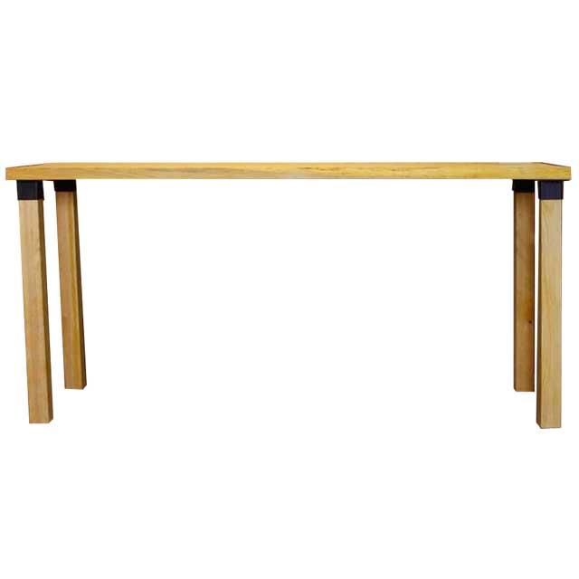 カウンターテーブル アイアンレッグジョイント ナチュラル w150d50h70cm 組み立て式 木製 ひのき オーダーメイド