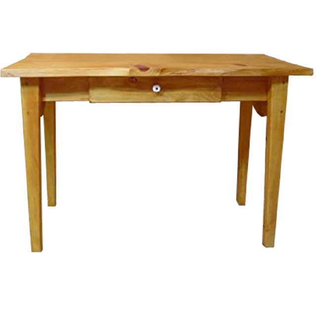 テーブル 自然木 ナチュラル w105d50h70cm 自然の形そのまま 引き出し付き 木製 ひのき オーダーメイド