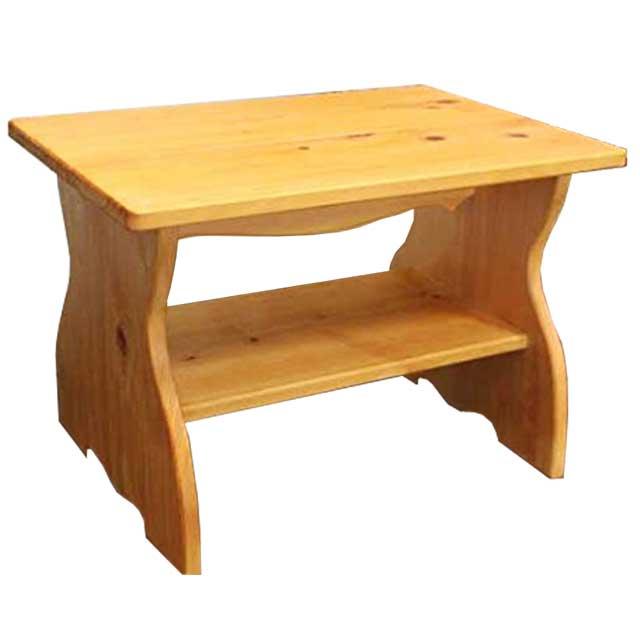 テーブル 正座仕様 ナチュラル 54×38×37cm 棚つき 木製 ひのき オーダーメイド 1134626