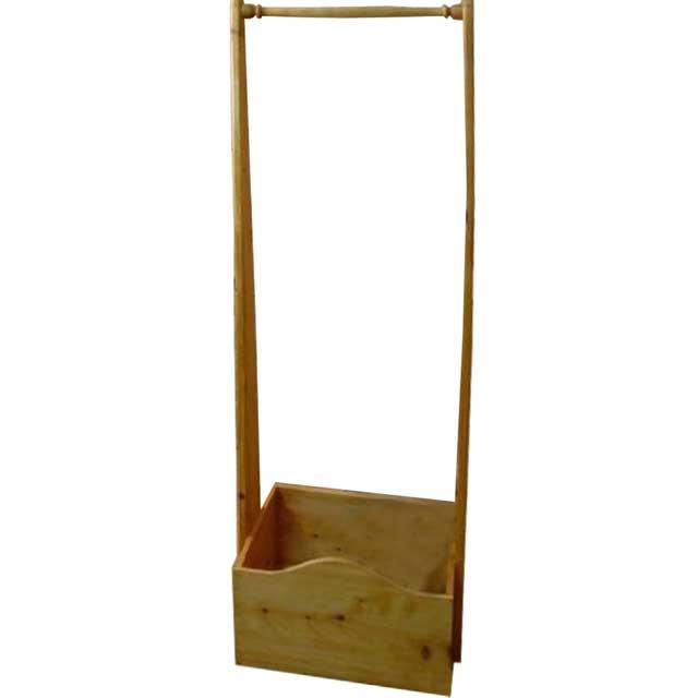 ハンガーラック ボックスつき ナチュラル w47d35h135cm 木製 ひのき オーダーメイド