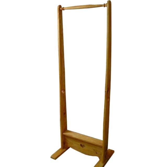ハンガーラック カントリーハート ナチュラル w50d40h135cm シンプル 木製 ひのき オーダーメイド