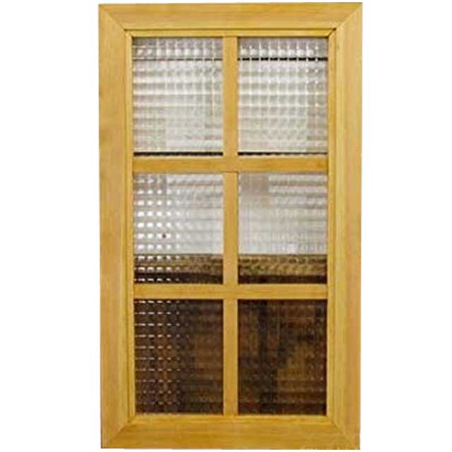 ガラスフレーム 木製 ひのき チェッカーガラス 両面仕様桟入り 35×60cm・厚み2.5cm 北欧 ナチュラル オーダーメイド 1327933