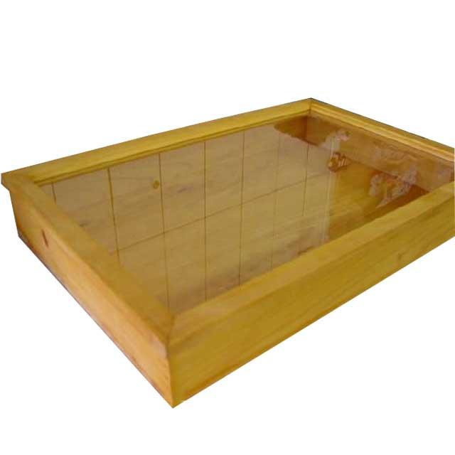 アクセサリーケース 木製 ひのき ナチュラル  透明ガラス コレクションケース(60×40×9センチ) ディスプレイケース つまみなし 受注製作