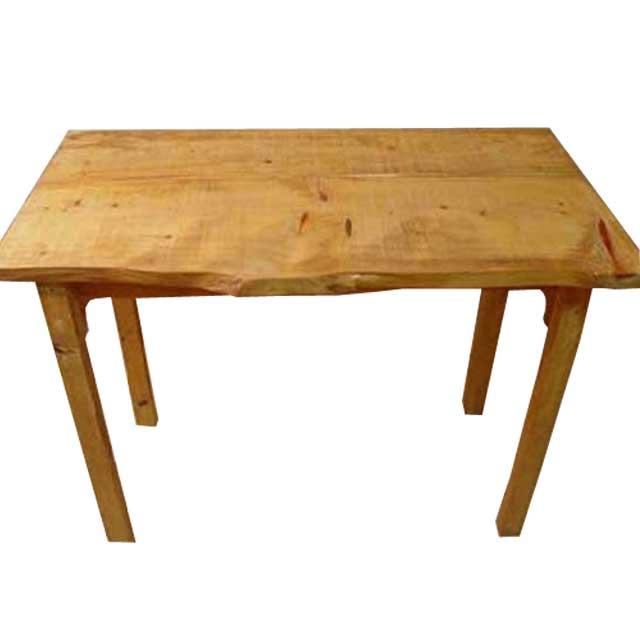 テーブル 自然木 ナチュラル w95.5d53h72cm 作業台 木製 ひのき オーダーメイド