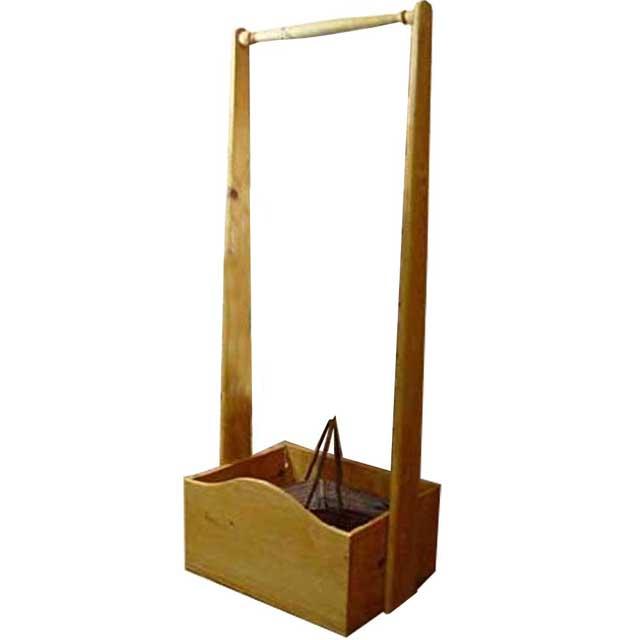 ハンガーラック 子供用 ナチュラル w47d35h120cm ボックスつき 木製 ひのき オーダーメイド