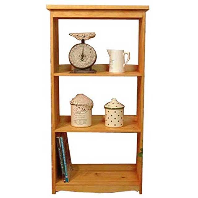 三段ラック 飾り棚 ナチュラル w52.5d27h100cm 木製 ひのき オーダーメイド
