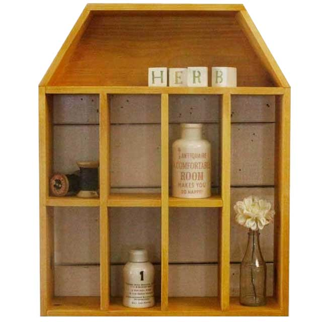 zakka home decor wooden furniture cabinet wood wall shelves home decor wooden furniture Shelf antique style home furniture Dollhouse type collection shelf ornament shelves  wooden Cypress natural order