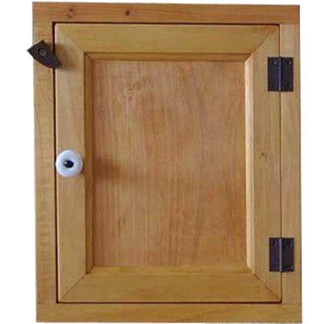 トイレットペーパーキャビネット 木製扉 ナチュラル w25d15h30cm 背板なし オーダーメイド