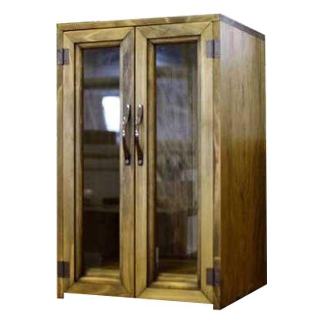ペットのお仏壇 台座付き ブロンズ取手 27x22x44cm 木製 ひのき ハンドメイド オーダーメイド 1361898