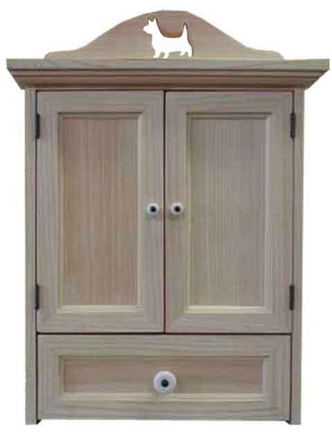 ペットのお仏壇 コーギー 木製扉 引き出しつき 35×25×40cm 無塗装白木 木製 ひのき ハンドメイド オーダーメイド