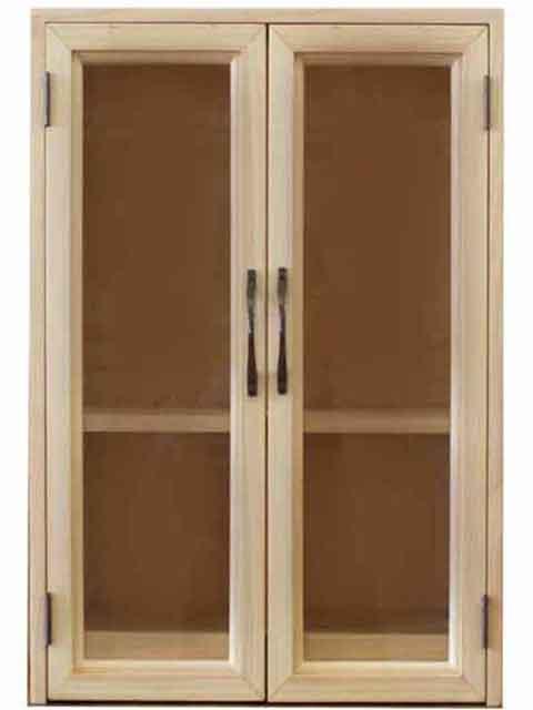 ペットのお仏壇 透明ガラス スライド棚 取外し棚 ブロンズ取手 37×26×51cm ライトオーク 木製 ひのき ハンドメイド オーダーメイド