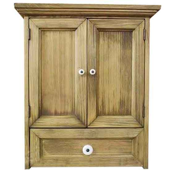ペットのお仏壇 木製扉 白つまみ 引き出し アンティークブラウン 35x25x40cm 木製 ひのき ハンドメイド オーダーメイド 1361898