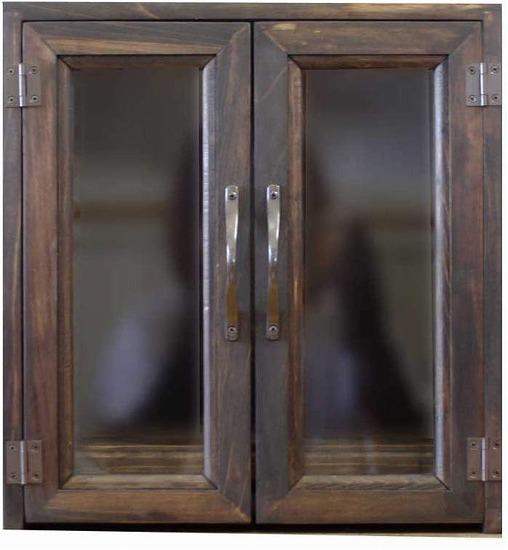 ペットのお仏壇 台座付き 透明ガラス扉 ブロンズ取手 30x22x32cm ダークブラウン 木製 ひのき ハンドメイド オーダーメイド 1239454