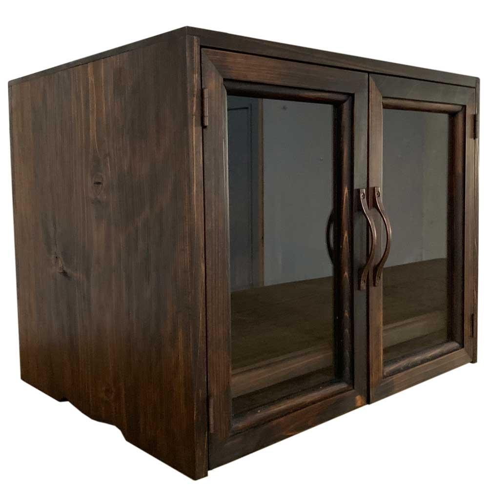 ペットのお仏壇 台座付き ブロンズ取手 40x32x32cm 4寸骨壺対応 木製 ひのき ハンドメイド オーダーメイド